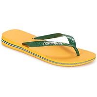 Cipők Lábujjközös papucsok Havaianas BRAZIL LOGO Citromsárga