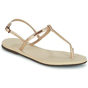 Cipők Női Szandálok / Saruk Havaianas YOU RIVIERA Bézs