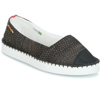 Cipők Női Gyékény talpú cipők Havaianas ORIGINE FLATFORM UP Fekete