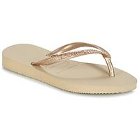 Cipők Lány Lábujjközös papucsok Havaianas SLIM Bézs