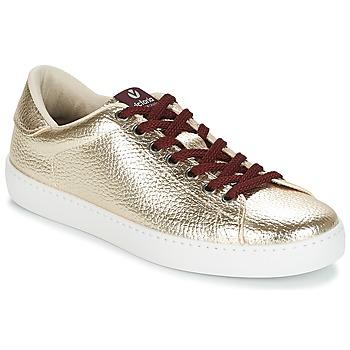 Cipők Női Rövid szárú edzőcipők Victoria DEPORTIVO METALIZADO Platina
