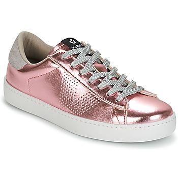 Cipők Női Rövid szárú edzőcipők Victoria DEPORTIVO METALIZADO Rózsaszín