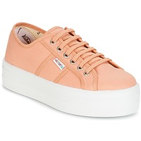 Cipők Női Rövid szárú edzőcipők Victoria BLUCHER LONA PLATAFORMA Rózsaszín / Bézs