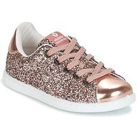 Cipők Lány Rövid szárú edzőcipők Victoria DEPORTIVO GLITTER KID Rózsaszín