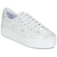 Cipők Női Rövid szárú edzőcipők No Name PLATO SNEAKER Ezüst