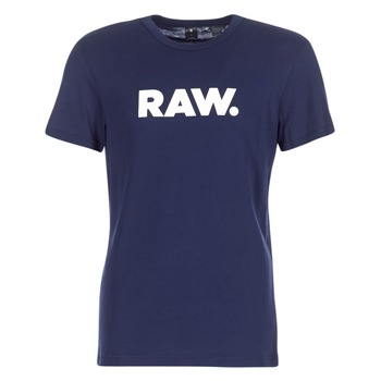 Ruhák Férfi Rövid ujjú pólók G-Star Raw HOLORN R T S/S Tengerész