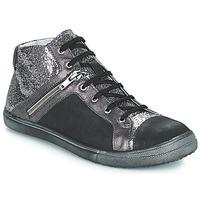 Cipők Lány Városi csizmák GBB KAMI Vts / Fekete-ezüst