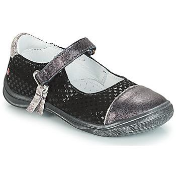 Cipők Lány Balerina cipők  GBB RIKA Szürke / Fekete