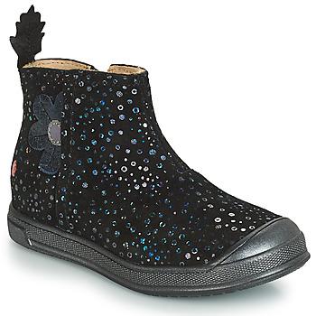 Cipők Lány Csizmák GBB ROMANE Fekete