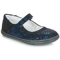 Cipők Lány Balerina cipők / babák GBB PLACIDA Kék / Fekete