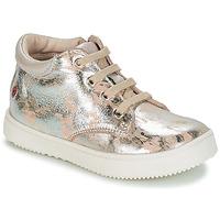 Cipők Lány Magas szárú edzőcipők GBB SACHA Bézs / Ezüst