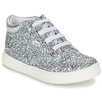 Cipők Lány Magas szárú edzőcipők GBB SACHA Ezüst