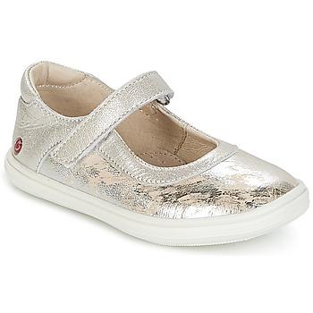 Cipők Lány Balerina cipők  GBB PLACIDA Vte / Bézs-ezüst / Dpf / Kuba