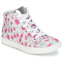 Cipők Lány Magas szárú edzőcipők GBB SERAPHINE Szürke / Rózsaszín / Fehér