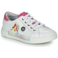 Cipők Lány Magas szárú edzőcipők Catimini SYLPHE Vte / Fehér-rózsaszín / Dpf / Fehér