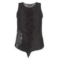 Ruhák Női Trikók / Ujjatlan pólók Desigual POALDAOR Fekete