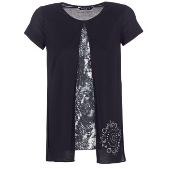 Ruhák Női Rövid ujjú pólók Desigual NUTILAD Fekete