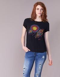Ruhák Női Rövid ujjú pólók Desigual NAIKLE Fekete