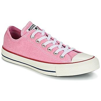 Cipők Női Rövid szárú edzőcipők Converse Chuck Taylor All Star Ox Stone Wash Rózsaszín