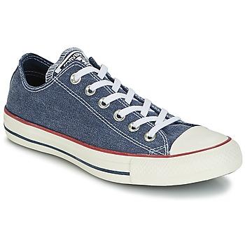 Cipők Rövid szárú edzőcipők Converse Chuck Taylor All Star Ox Stone Wash Tengerész