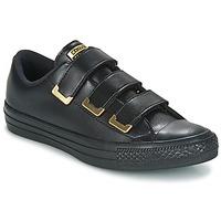 Cipők Női Rövid szárú edzőcipők Converse Chuck Taylor All Star 3V Ox SL + Hardware Fekete  / Arany