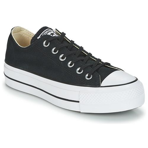 d5ae1cbb29ca Cipők Női Rövid szárú edzőcipők Converse Chuck Taylor All Star Lift Clean  Ox Core Canvas Fekete