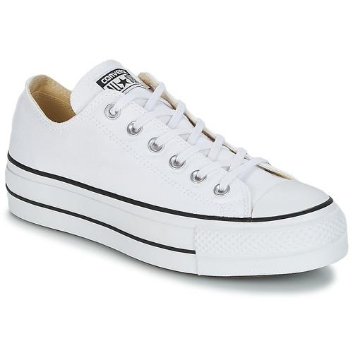 Cipők Női Rövid szárú edzőcipők Converse Chuck Taylor All Star Lift Clean  Ox Core Canvas Fehér 9561923078