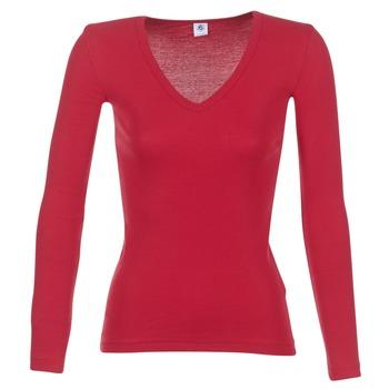 Ruhák Női Hosszú ujjú pólók Petit Bateau  Piros