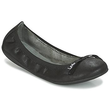 Cipők Női Balerina cipők / babák LPB Shoes ELLA VELOUR Fekete