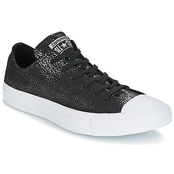 Cipők Női Rövid szárú edzőcipők Converse Chuck Taylor All Star Ox Tipped Metallic Fekete