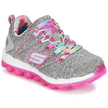 Cipők Lány Rövid szárú edzőcipők Skechers SKECH-AIR Szürke / Rózsaszín