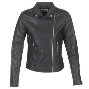 Ruhák Női Bőrkabátok / műbőr kabátok Vila VICARA Fekete