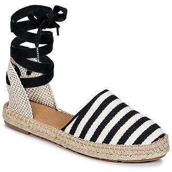 Cipők Női Gyékény talpú cipők Betty London INANO Fekete  / Fehér