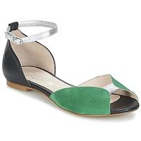 Cipők Női Szandálok / Saruk Betty London INALI Fekete  / Ezüst / Zöld