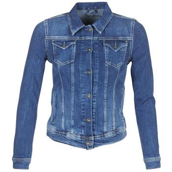 Ruhák Női Farmerkabátok Pepe jeans THRIFT Kék / Átlagos