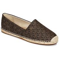 Cipők Női Gyékény talpú cipők MICHAEL Michael Kors KENDRICK SLIP ON Barna