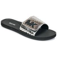 Cipők Női strandpapucsok MICHAEL Michael Kors MK SLIDE Fekete  / Ezüst