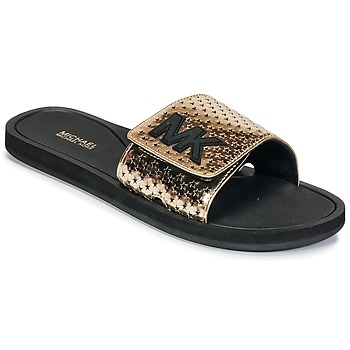 Cipők Női strandpapucsok MICHAEL Michael Kors MK SLIDE Fekete  / Arany