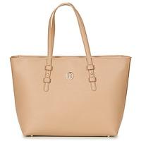 Táskák Női Bevásárló szatyrok / Bevásárló táskák Tommy Hilfiger TH SIGNATURE STRAP TOTE Bézs