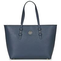 Táskák Női Bevásárló szatyrok / Bevásárló táskák Tommy Hilfiger TH SIGNATURE STRAP TOTE Tengerész / Fehér / Piros