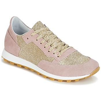 Cipők Női Rövid szárú edzőcipők Yurban CROUTA Rózsaszín / Arany