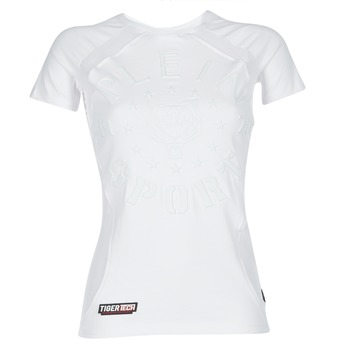 Ruhák Női Rövid ujjú pólók Philipp Plein Sport FORMA LINEA Fehér / Fehér