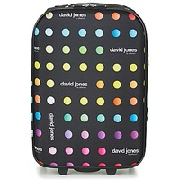 Táskák Puha bőröndök David Jones PICOLO 35L Fekete / Sokszínű
