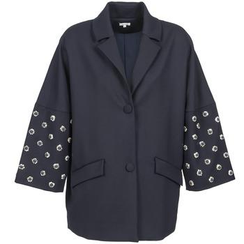 Ruhák Női Kabátok Manoush CABOCHON Tengerész