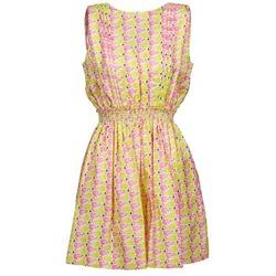 Ruhák Női Rövid ruhák Manoush FLAMINGO Rózsaszín / Fluoreszkáló / Citromsárga