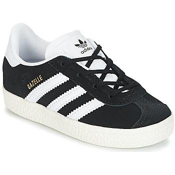 Cipők Gyerek Rövid szárú edzőcipők adidas Originals GAZELLE I Fekete  / Fehér