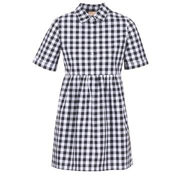 Ruhák Női Rövid ruhák Moony Mood IKAMAL Fehér / Fekete