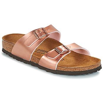 Cipők Női Papucsok Birkenstock SYDNEY Rózsaszín / Arany