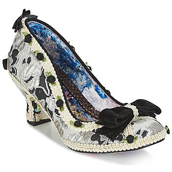 Cipők Női Félcipők Irregular Choice BISH BASH BOW Ezüst / Fekete