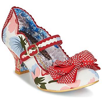 Cipők Női Félcipők Irregular Choice BALMY NIGHTS Fehér / Piros